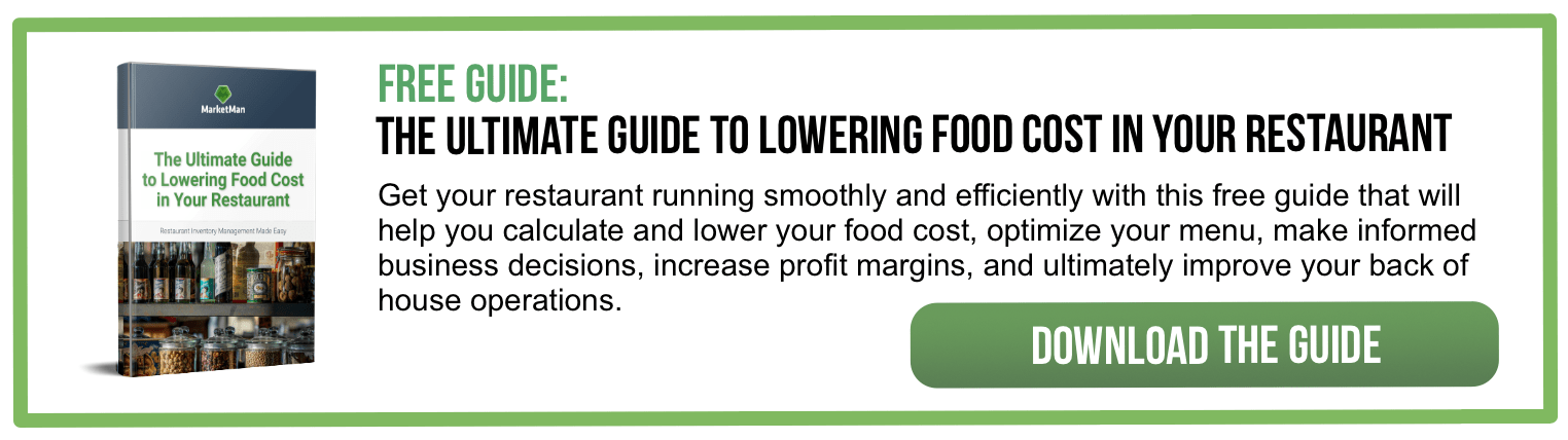 Lowering Food Costs CTA
