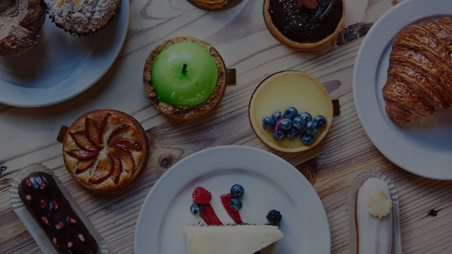 Table of pastries