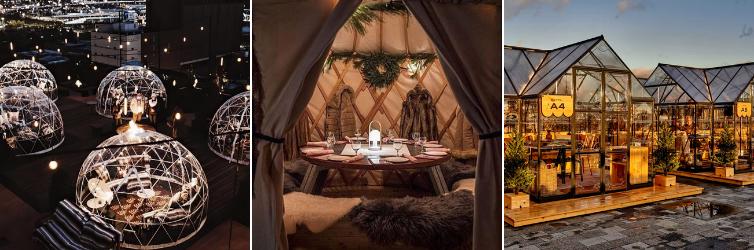 Igloo Yurt Cabin Outdoor Dining
