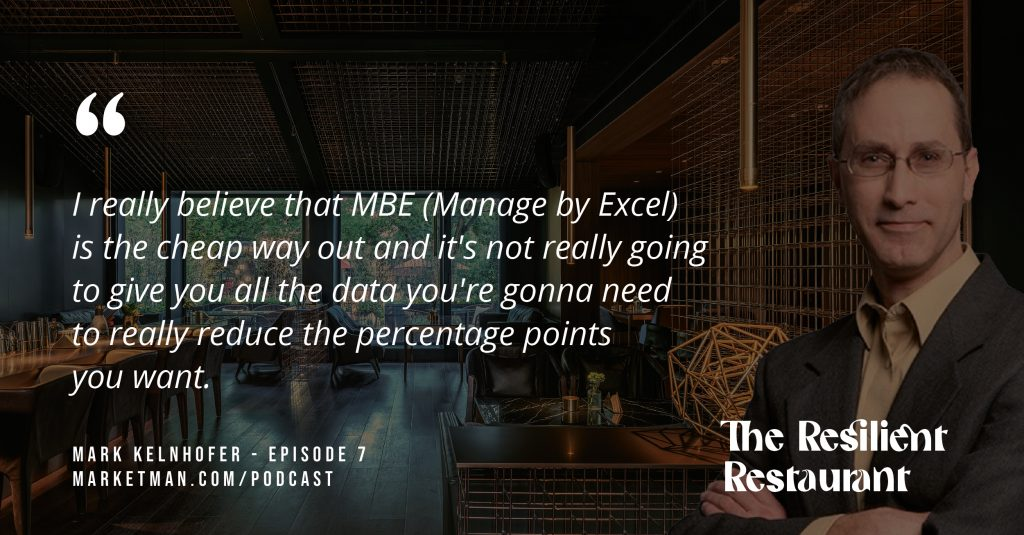 Mark Kelnhofer quote about Manage By Excel