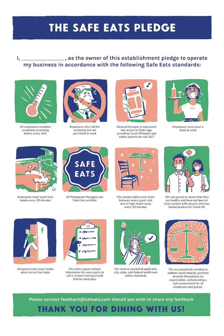 The Safe Eats Pledge Infographic