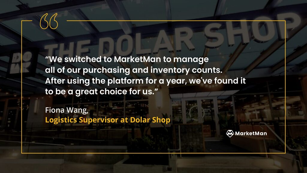 Fiona Wang from Dolar Shop quote about purchasing and inventory counts