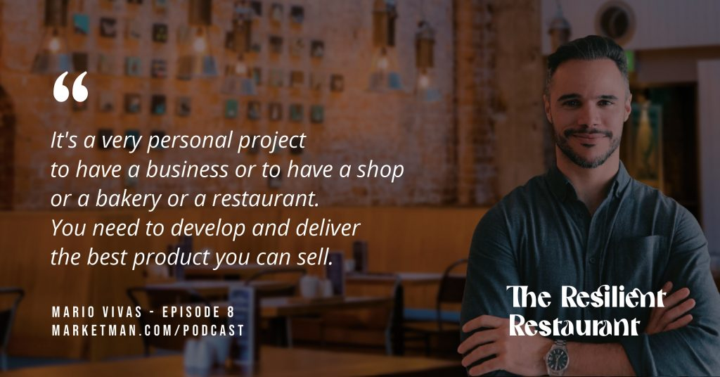 Mario Vivas quote about selling the best products you can