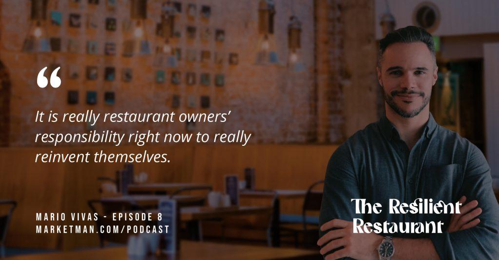 Mario Vivas quote about restaurant owners' responsibility